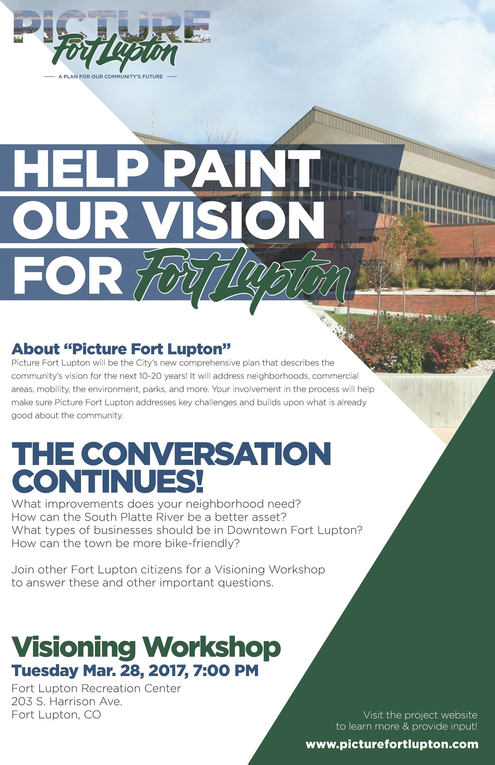 Fort Lupton Visioning Workshop Poster