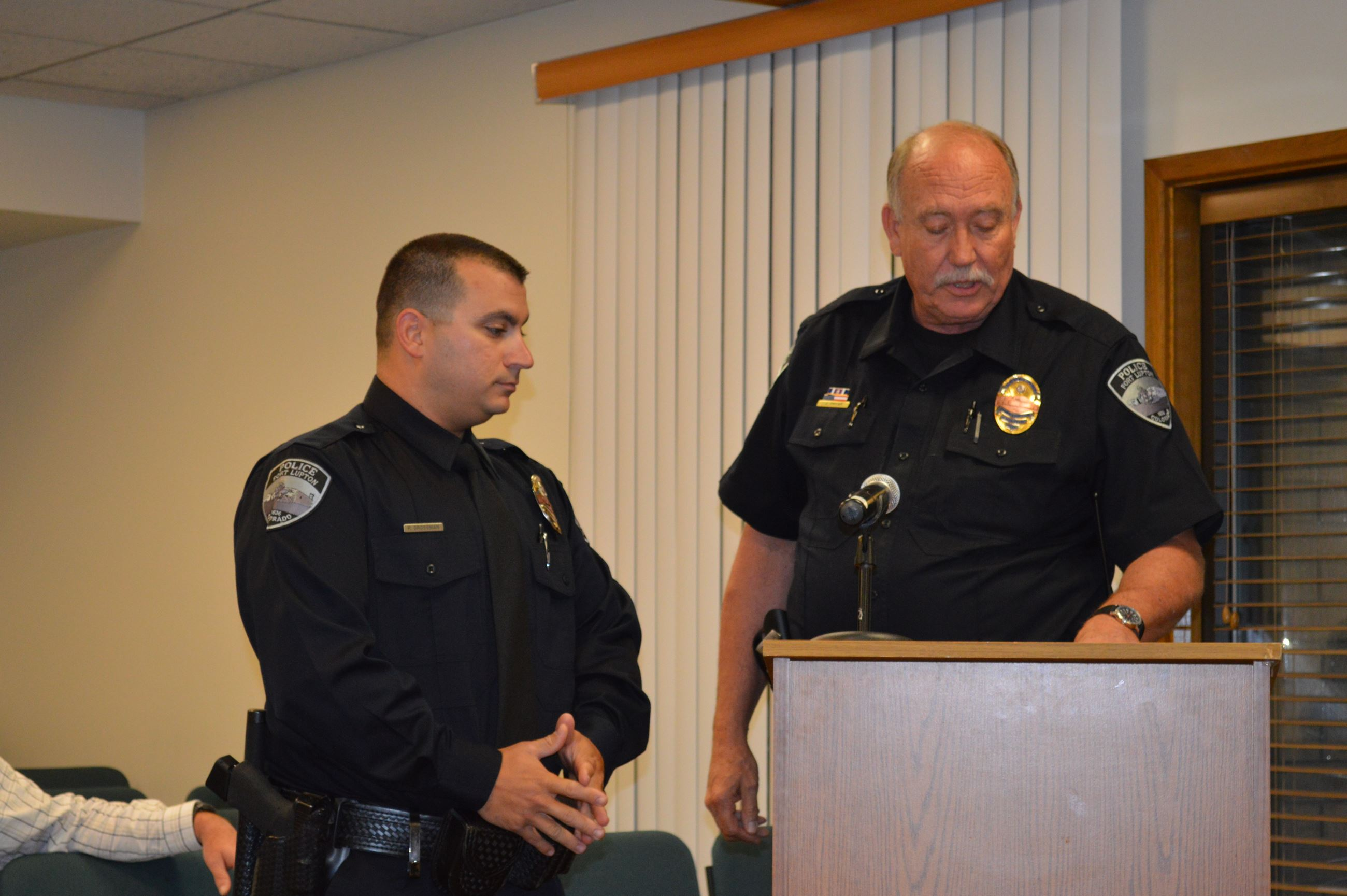 Officer Wyard Receives Recognition for Life Saving Action