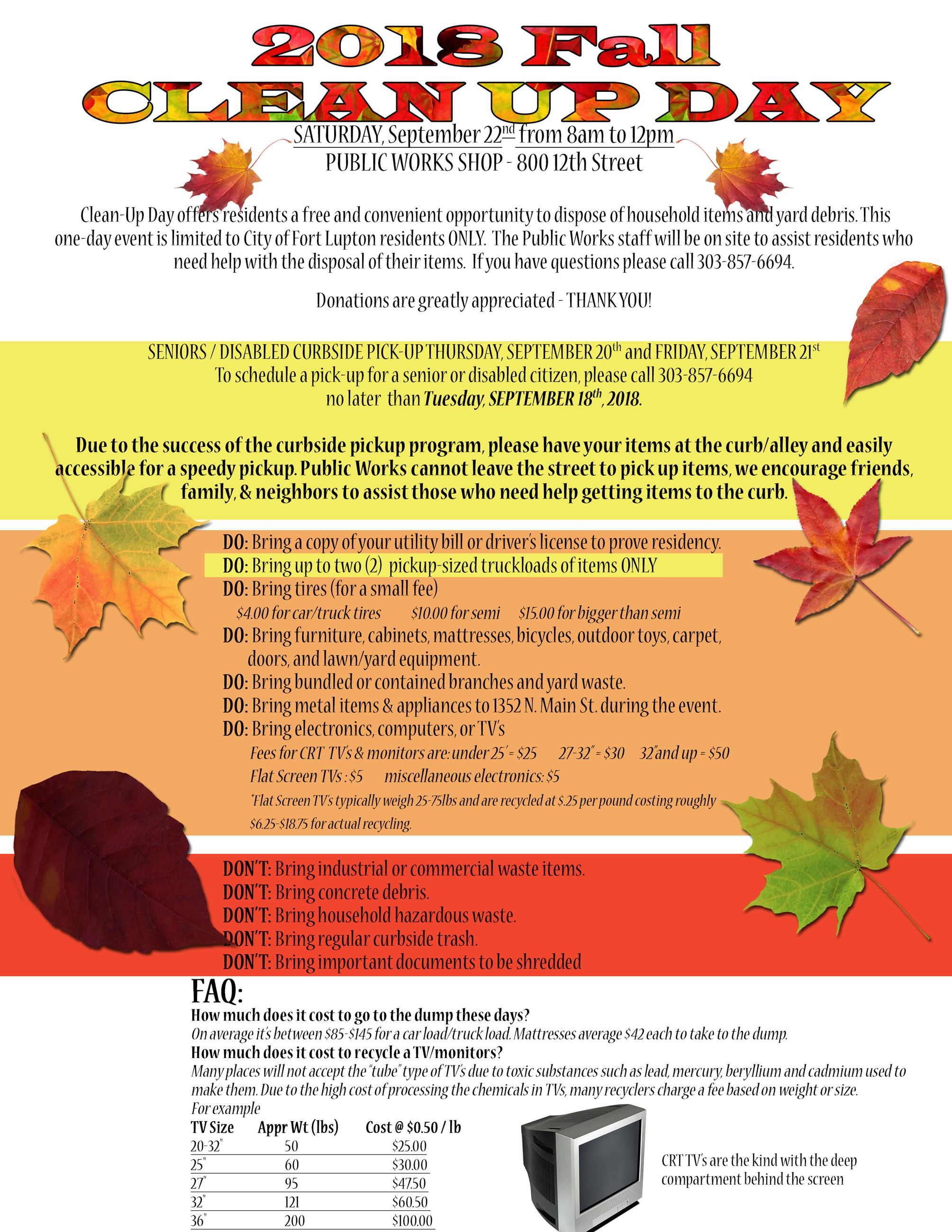Fall cleanUp Flyer 2018