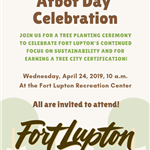 Arbor Day Celebration Flyer