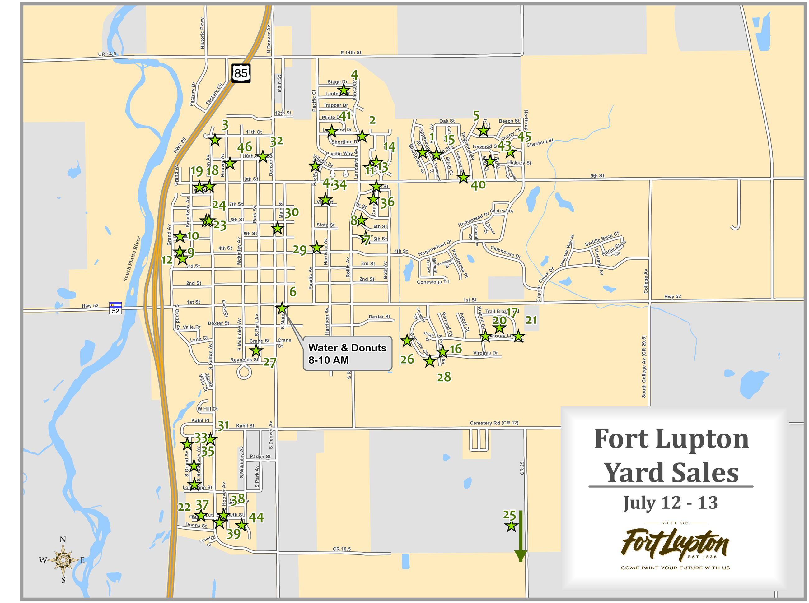 City Wide Yard Sale - July 13 & July 14, 2018 | Fort Lupton, CO