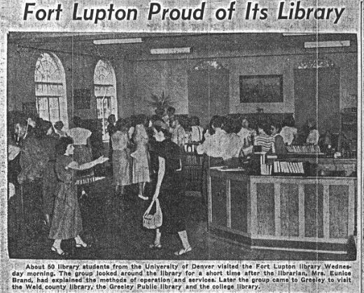 1937 newspaper photo inside library