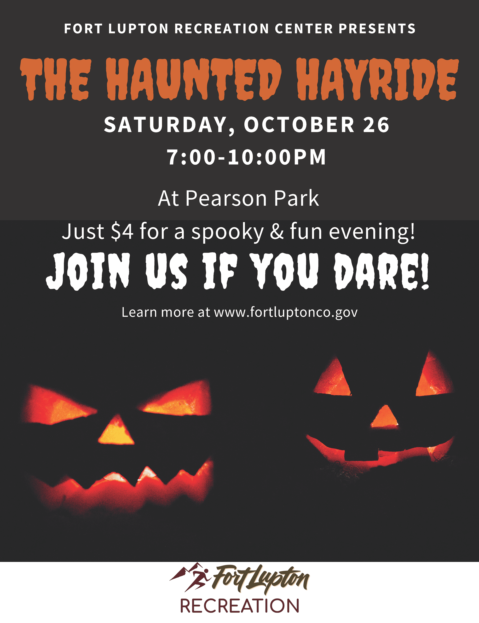 Haunted hayride flyer