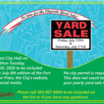 2020 Citywide Yard Sale Flyer