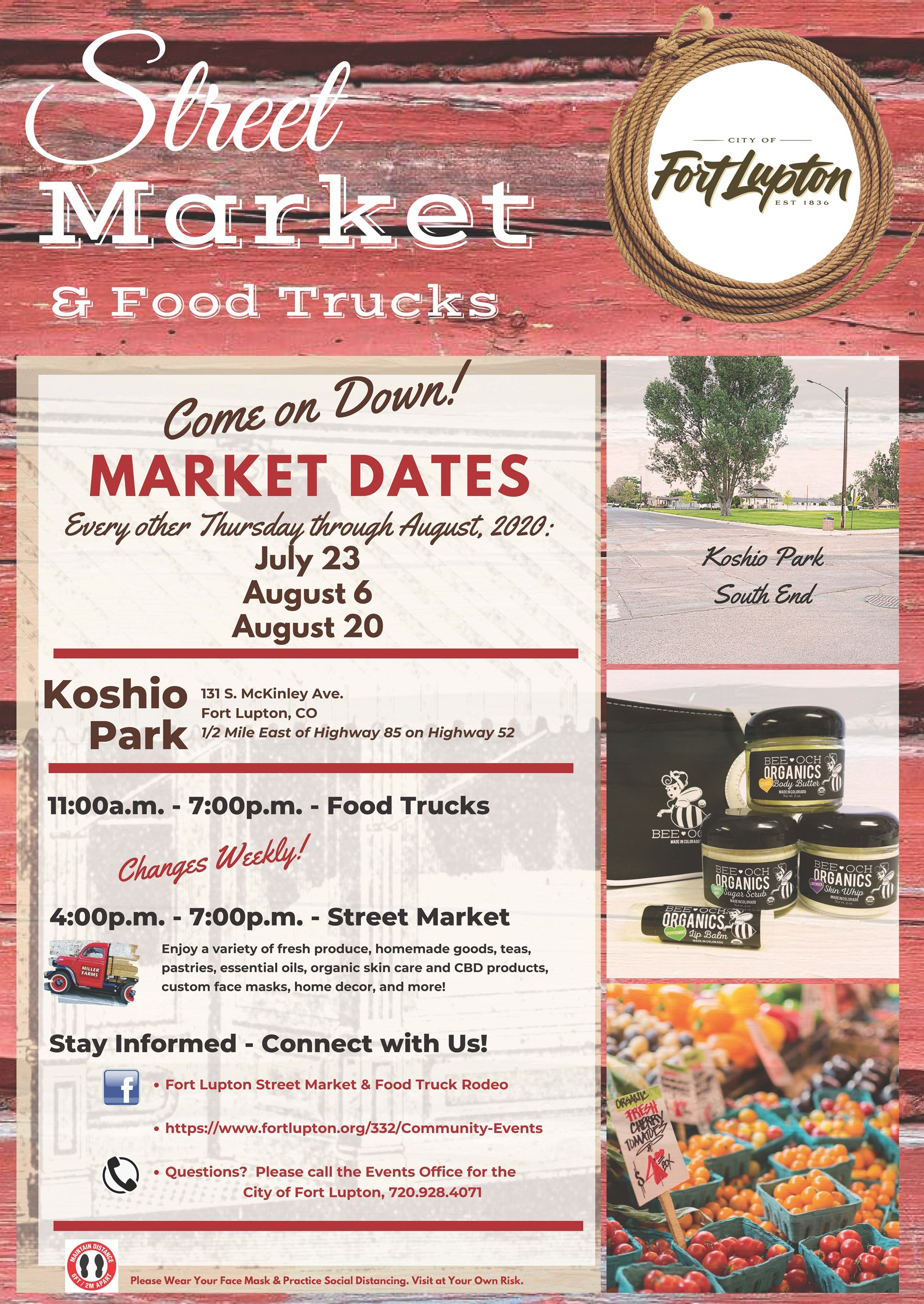 2020 Market Dates Poster