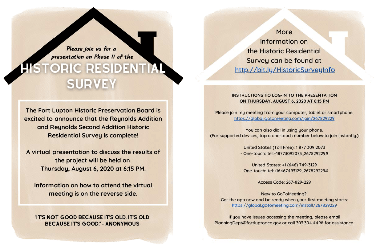 Virtual Presentation for Historic Residential Survey