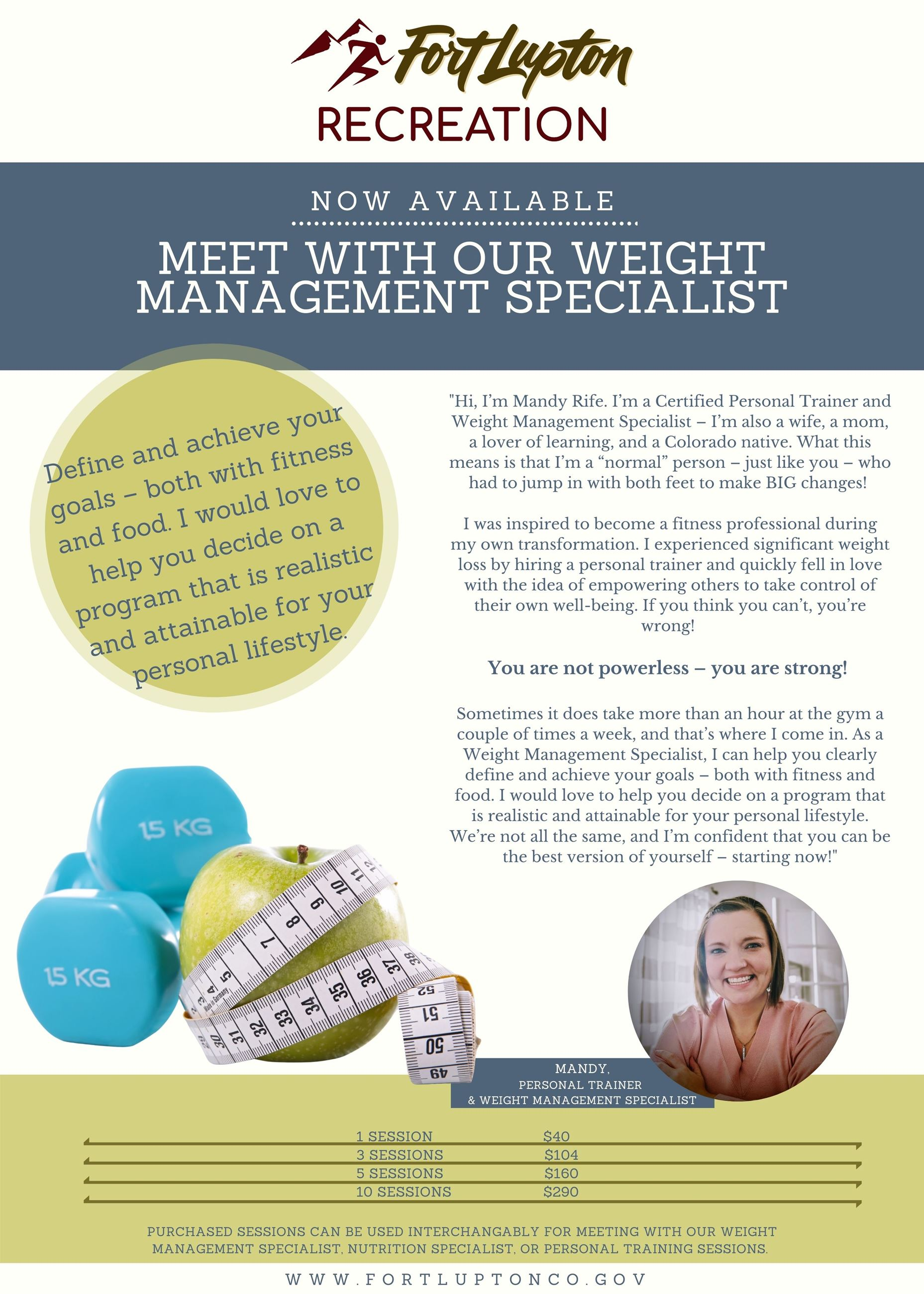 Weight Management Specialist Flyer