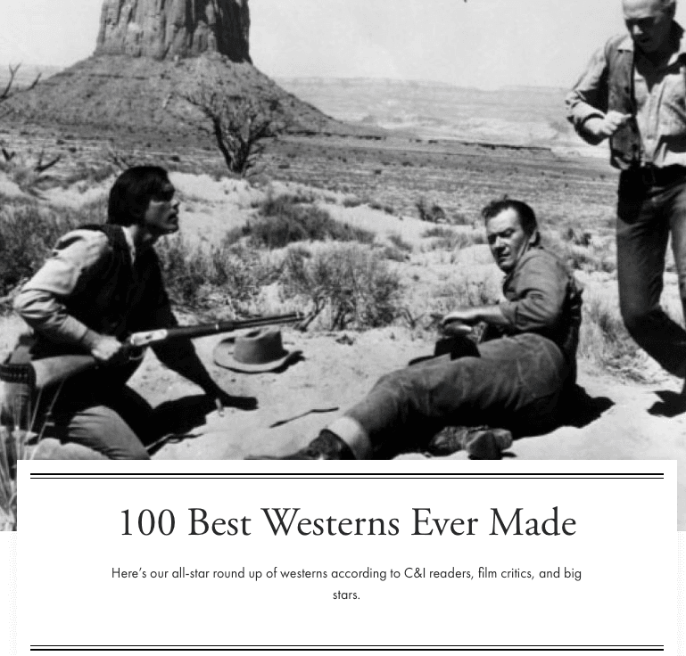 100 Best Westerns Ever Made Opens in new window