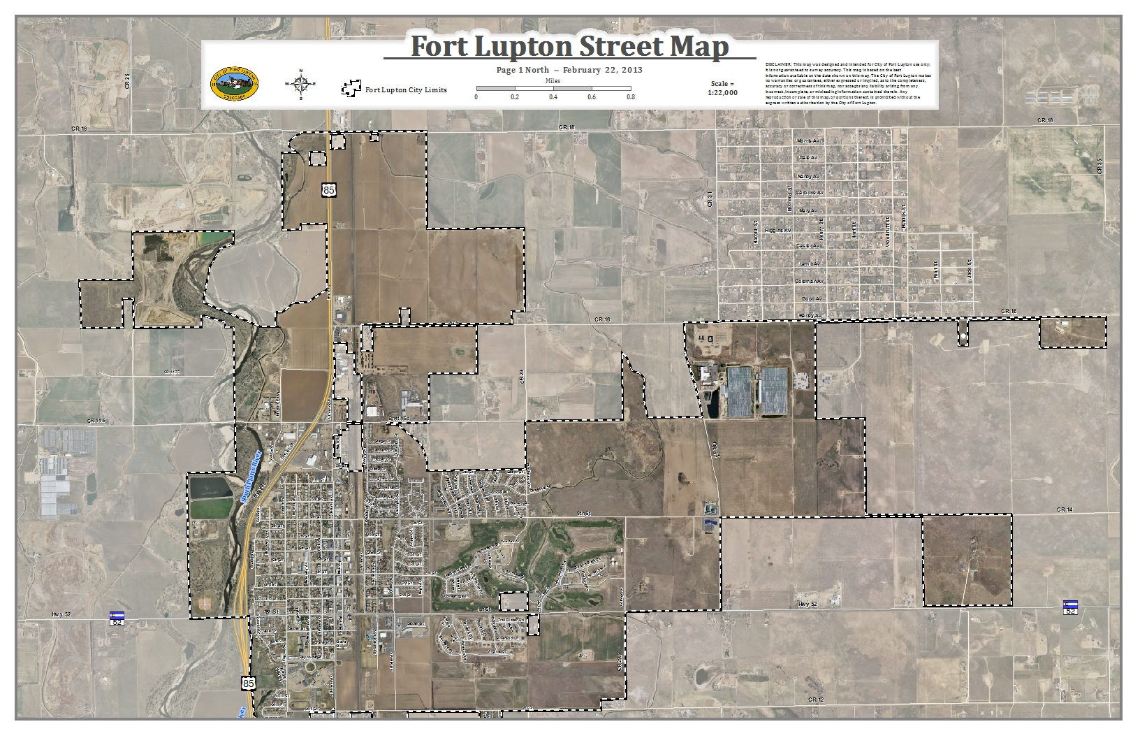 Fort Lupton CO Official Website – Aerial Street Maps